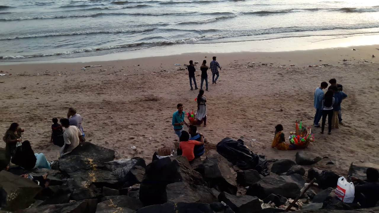 Rock Beach is one the places to visit in Mumbai