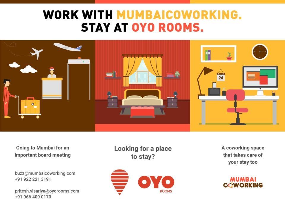 OYO Rooms Partnership with Mumbai Coworking