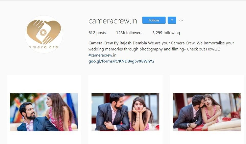 Camera Crew - wedding photographers in mumbai