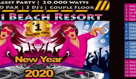 Pali beach resort New Year in Mumbai