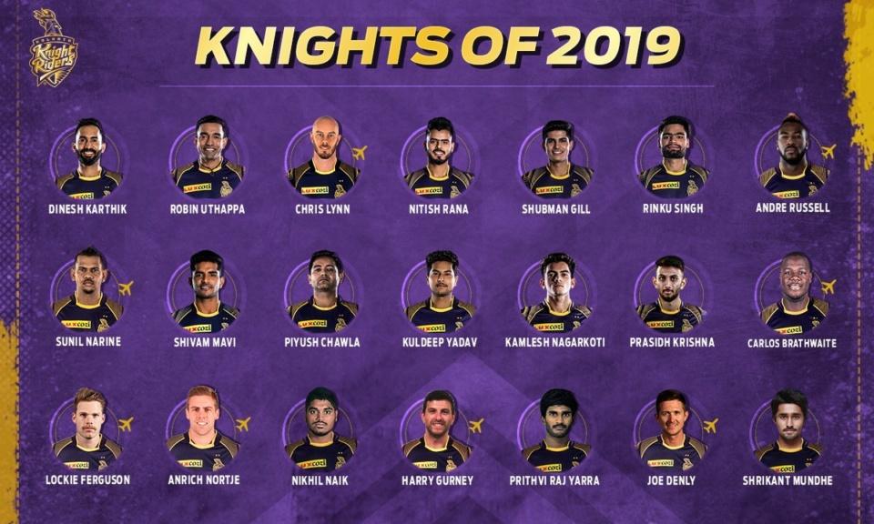 IPL 2019 - Kolkata Knight Riders