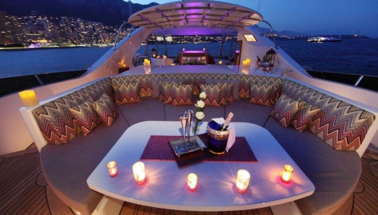 valentines day in yacht