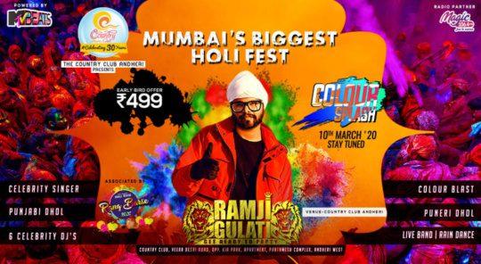 holi parties in mumbai - Color Splash